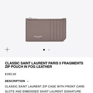 Classic YSL Zip Pouch